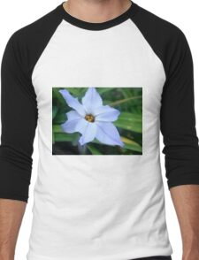 Blue Flower Men's Baseball ¾ T-Shirt