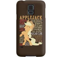 The Many Words of Applejack Samsung Galaxy Case/Skin
