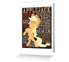 The Many Words of Applejack Greeting Card
