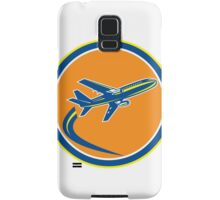 Commercial Jet Plane Airline Flying Retro Samsung Galaxy Case/Skin