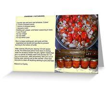Stewed Tomatoes Greeting Card