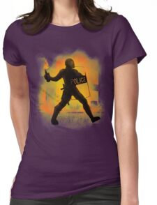 Riot Cops Womens Fitted T-Shirt