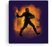 Riot Cops Canvas Print