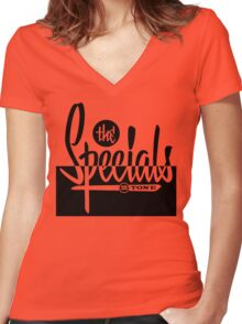 The Specials 2Tone Women's Fitted V-Neck T-Shirt