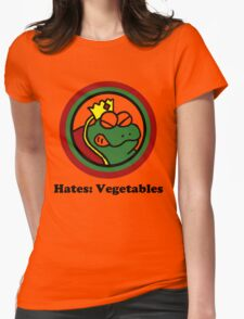 Hates: Vegetables Womens Fitted T-Shirt