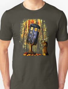 Haunted Blue Phone Box captured By witch Unisex T-Shirt