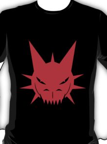 Red Dragon's Head Design On Black Background T-Shirt