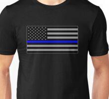 Basic Thin Blue Line American Flag Unisex T-Shirt