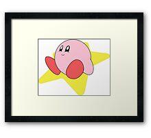 Cute Kirby Framed Print