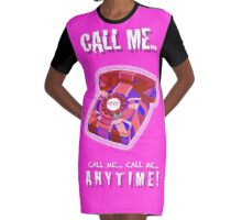 CALL ME Graphic T-Shirt Dress