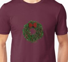 Simple Holly Wreath Unisex T-Shirt