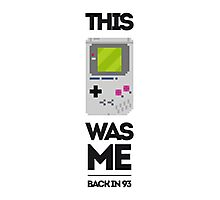 This Was Me: Game Boy Photographic Print
