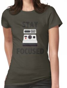 Cool Retro Camera Pun Womens Fitted T-Shirt
