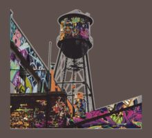 Water tower graffiti Kids Clothes