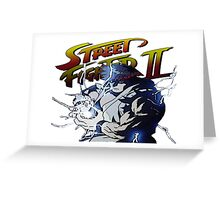 Street Fighter 2 - Ryu Hudouken Greeting Card