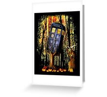 Haunted Blue Phone Box captured By witch Greeting Card