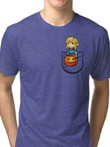 The Legend of Zelda Link Halloween Pumpkin Tri-blend T-Shirt