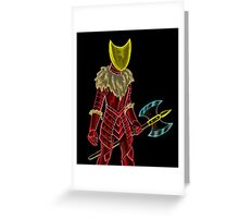 Neon Knight Greeting Card