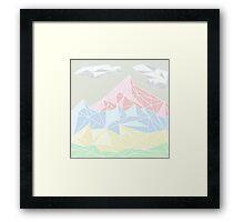 Geometric Mountains Framed Print