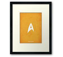 Star Trek - Command Emblem Framed Print