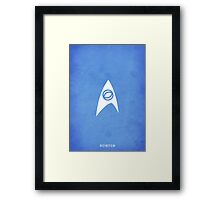 Star Trek - Science Emblem Framed Print