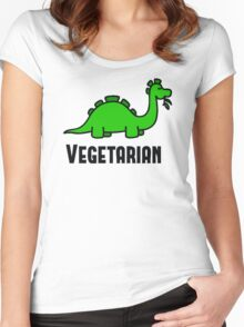 Vegetarian  Women's Fitted Scoop T-Shirt
