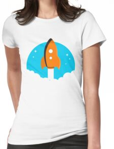 Space Rocket Blastoff Art Womens Fitted T-Shirt