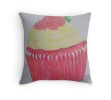 Red Velvet Cupcake Throw Pillow