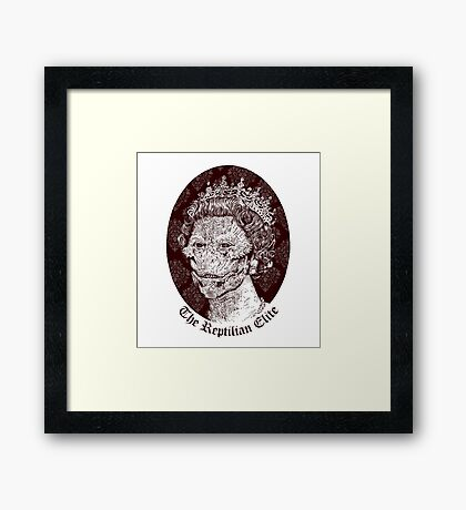 The Reptilian Elite Framed Print