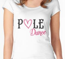 Pole dance Women's Fitted Scoop T-Shirt