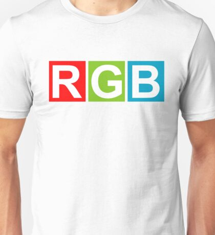 RGB (Red Green Blue) Unisex T-Shirt