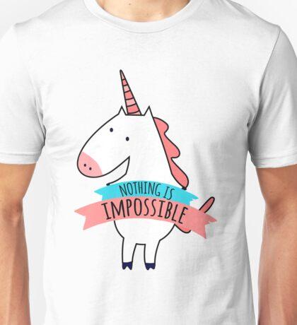 Cute Unicorn Nothing Impossible Unisex T-Shirt