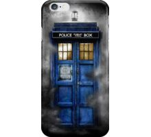 Haunted blue phone booth iPhone Case/Skin
