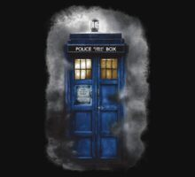 Haunted blue phone booth Kids Clothes