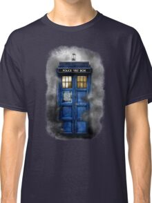 Haunted blue phone booth Classic T-Shirt