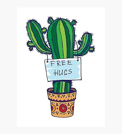 Free Hugs - Cactus Photographic Print