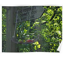 Signpost with Apples.......Dorset UK Poster