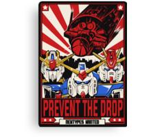 Prevent the Drop Canvas Print