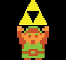 Legend of Zelda 8-bit Link Triforce by MrP1ckles