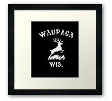 Waupaca_Wis Dustin T-shirt Framed Print