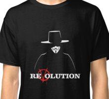 V for Vendetta Revolution Classic T-Shirt