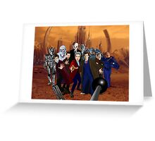 Doctors and Monsters Greeting Card