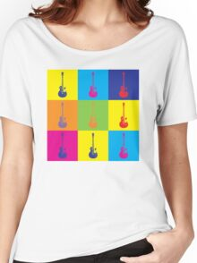 Pop Art Rock Guitar Women's Relaxed Fit T-Shirt