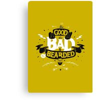 THE GOOD THE BAD AND THE BEARDED full yellow Canvas Print