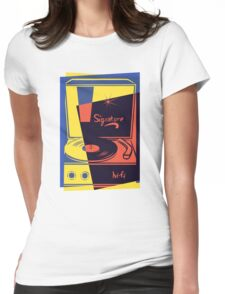 Vintage Turntable Stereo Womens Fitted T-Shirt