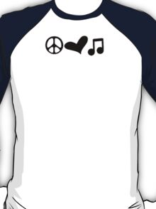 Peace, Love, and Music T-Shirt