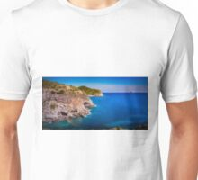 Coastal cliffs and the island Unisex T-Shirt
