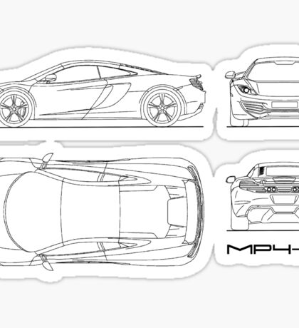 The MP4-12C Blueprint Sticker
