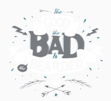 THE GOOD THE BAD AND THE BEARDED blue One Piece - Long Sleeve