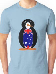 Australian Flag on Mr. Penguin Unisex T-Shirt